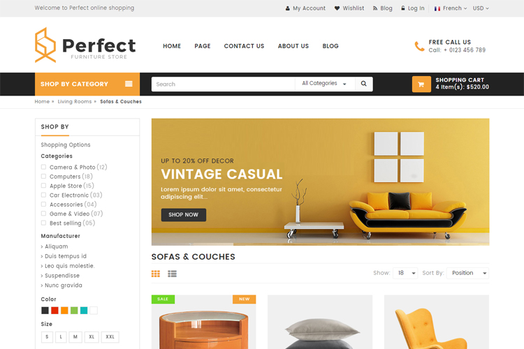 Perfect - Responsive Ecommerce HTML5 Template example image 3