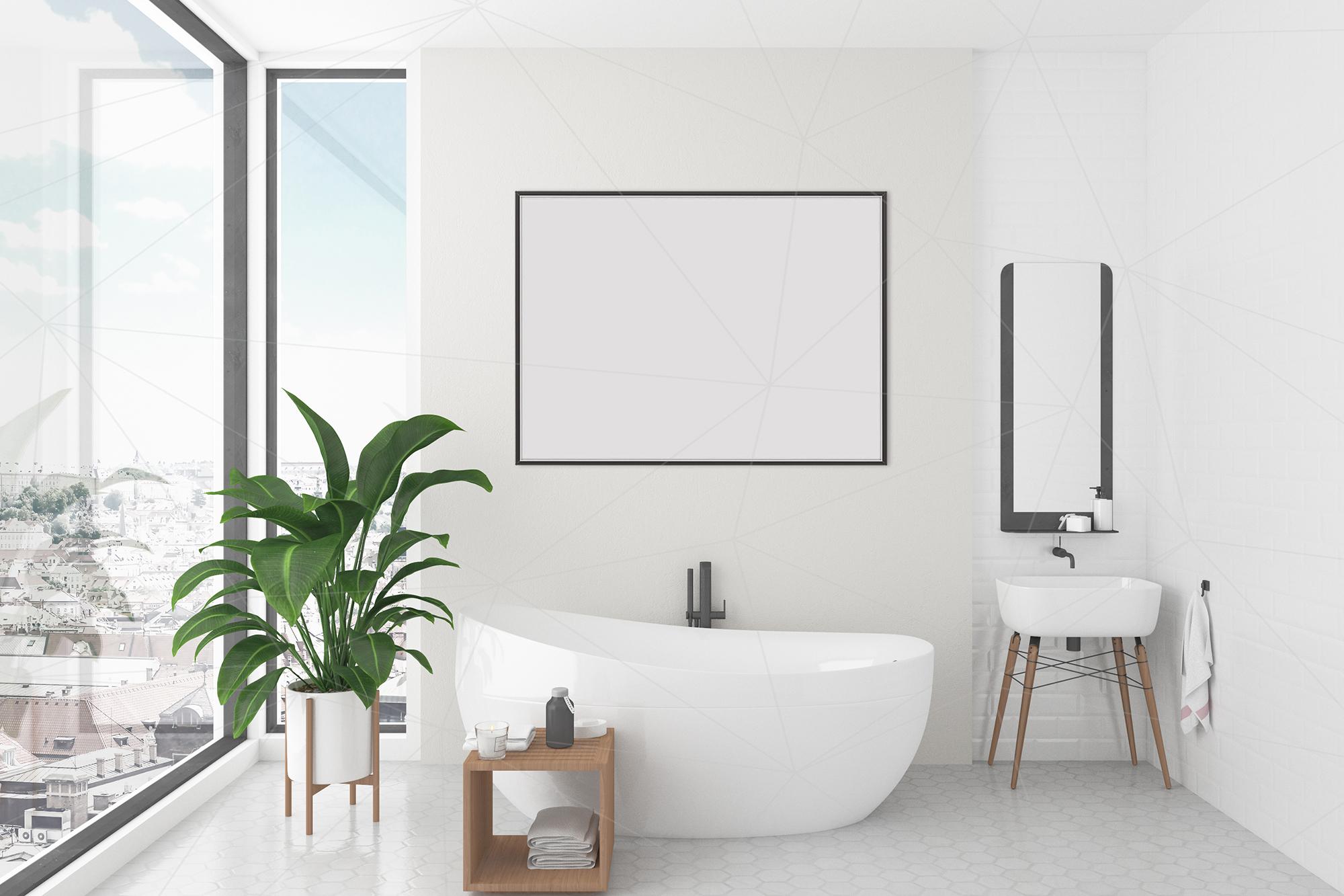 Interior Mockup Bundle Bathroom Background