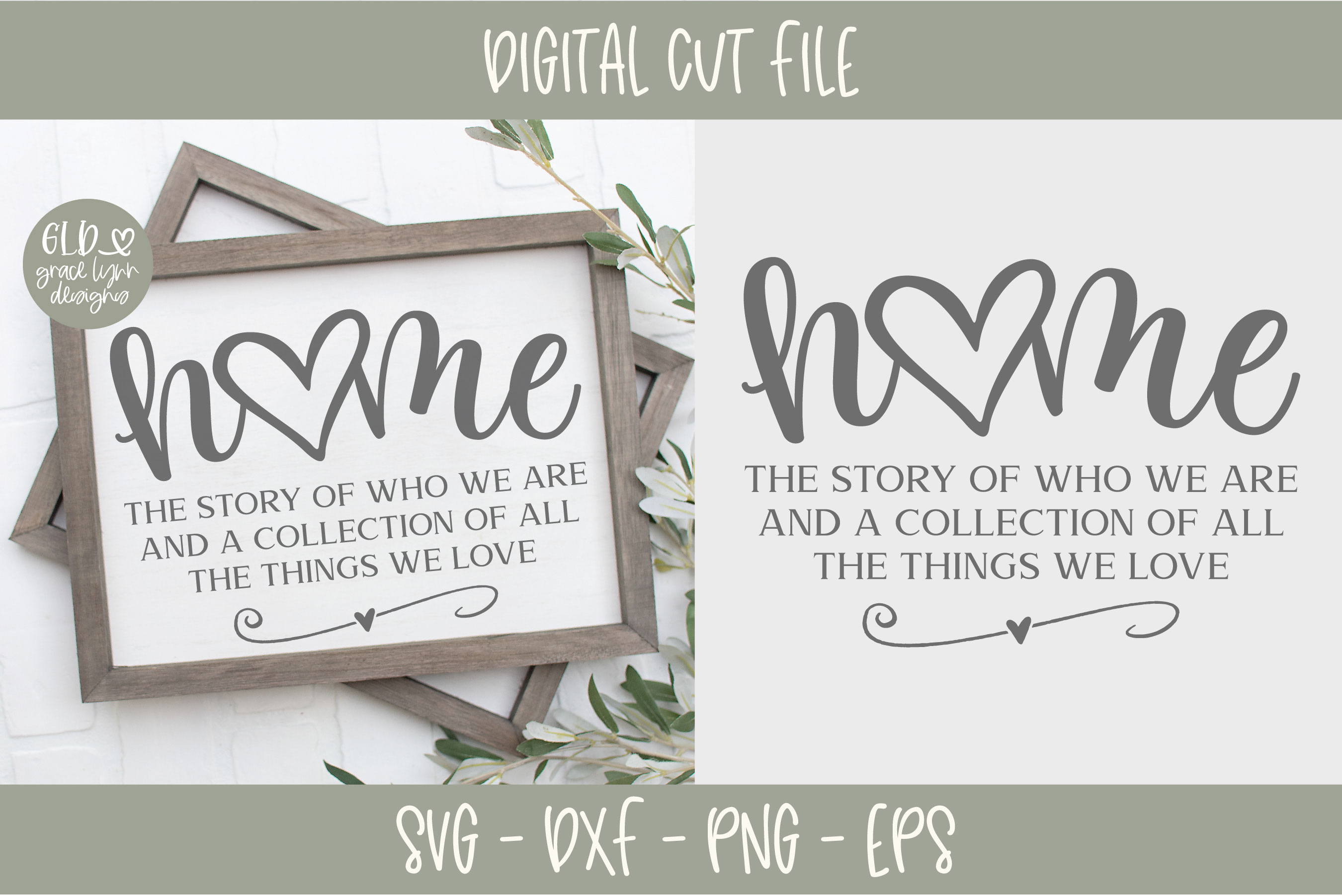 Home The Story Of Who We Are - SVG example image 1