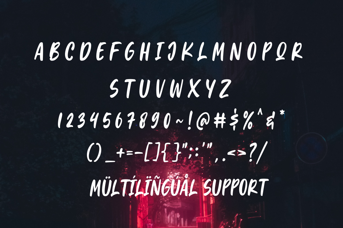 Light In Brush - Display Font example image 9