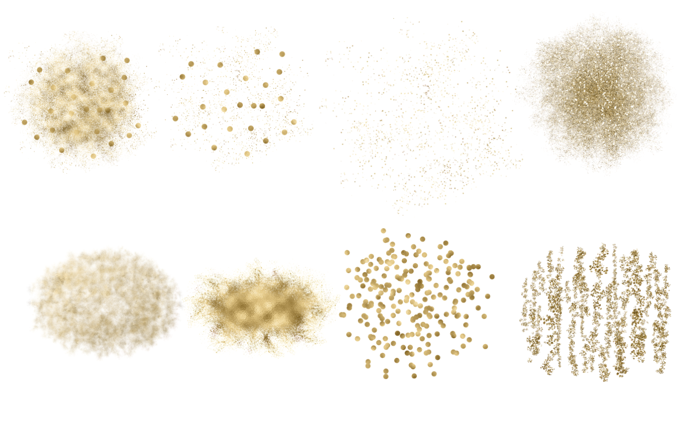 Gold Glitter Backgrounds, Gold Design PNG Elements example image 3