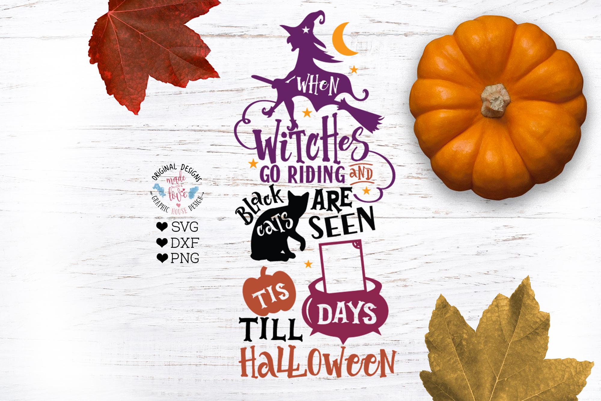 Halloween Countdown Calendar Cut File example image 1