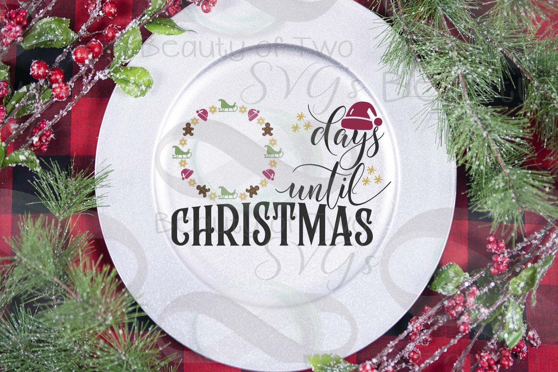 Christmas Farmhouse Countdown svg, Santa Countdown svg, example image 4