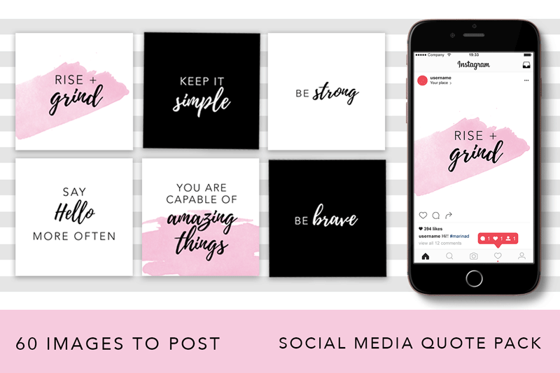 Girl Boss Instagram Quote Pack example image 1