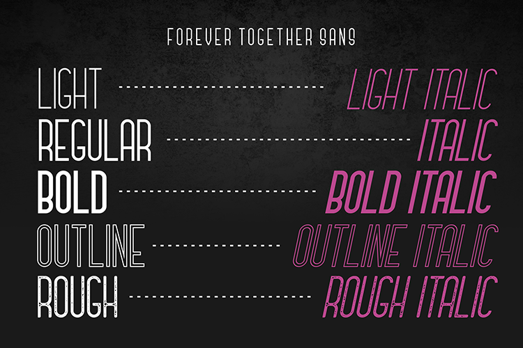 Forever Together - Romantic Font Duo example image 7