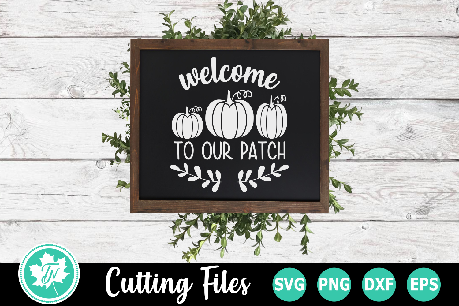 Welcome to our Patch - A Fall SVG Cut File example image 2