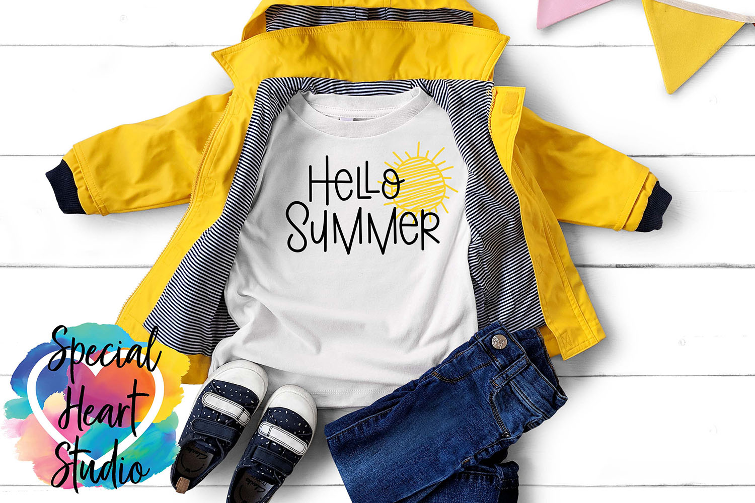 Hello Summer SVG - A cute summer cut file example image 1