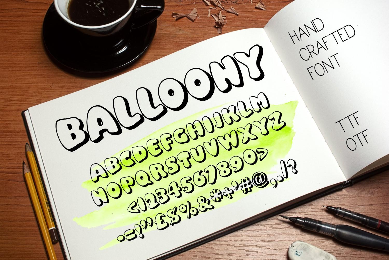 Balloony font example image 1