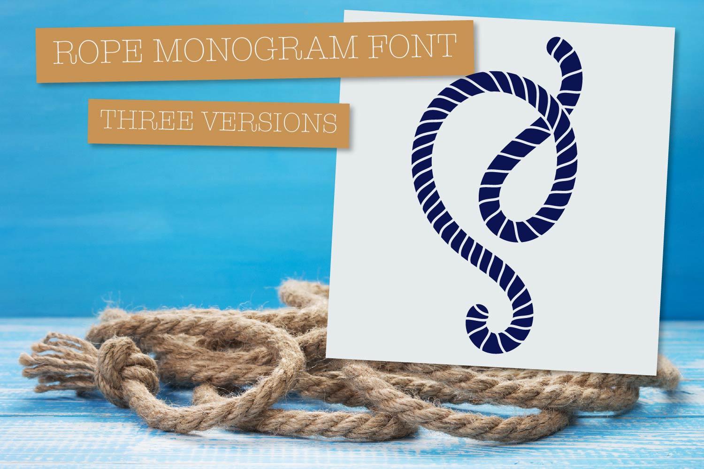 Rope Monogram - A Monogram Letter Trio! example image 6