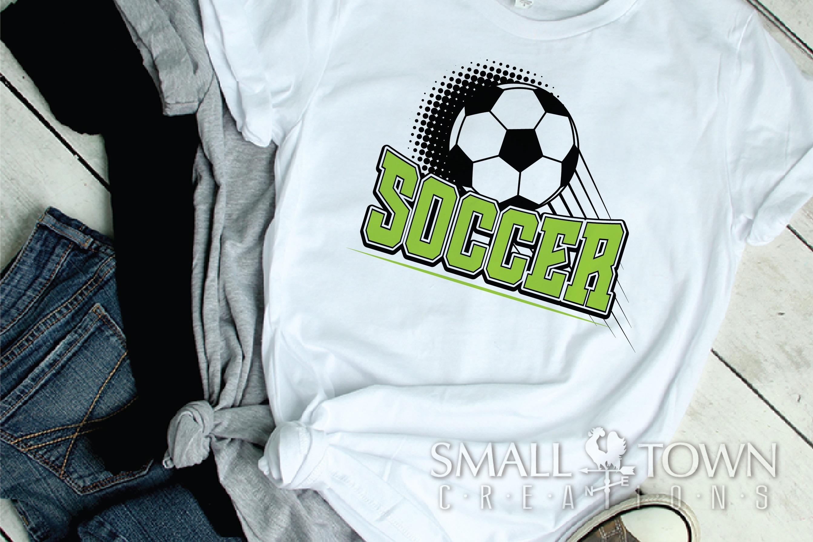 Soccer bundle, Soccer ball, team logo, PRINT, CUT & DESIGN example image 2
