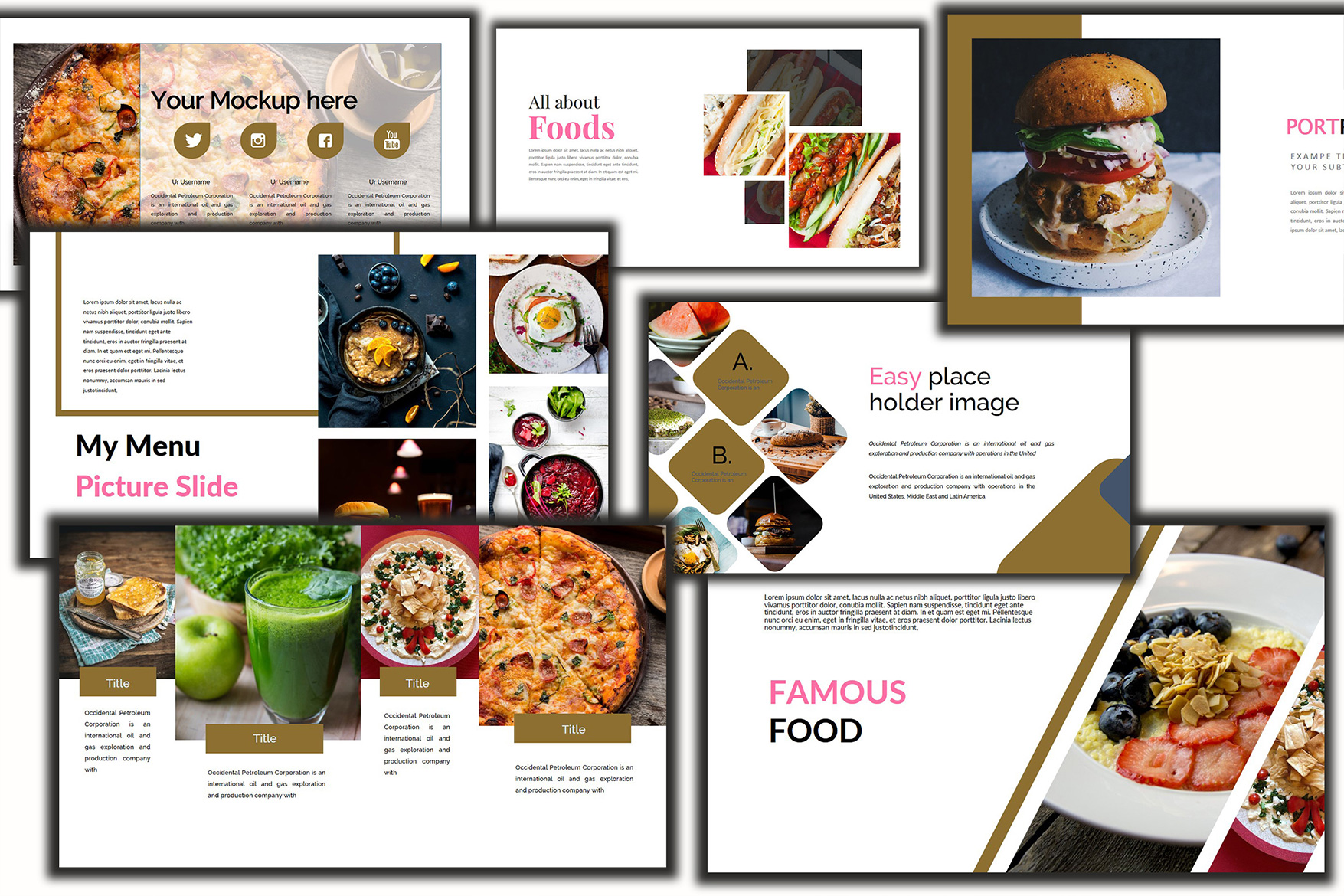 Delicious Food - Powerpoint Template example image 4