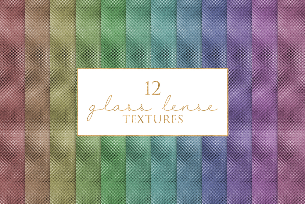 12 Glass Lense Texture Digital Paper Pack example image 1