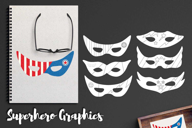 Illustrations Huge Bundle - Superhero Clip Art Graphics example image 16