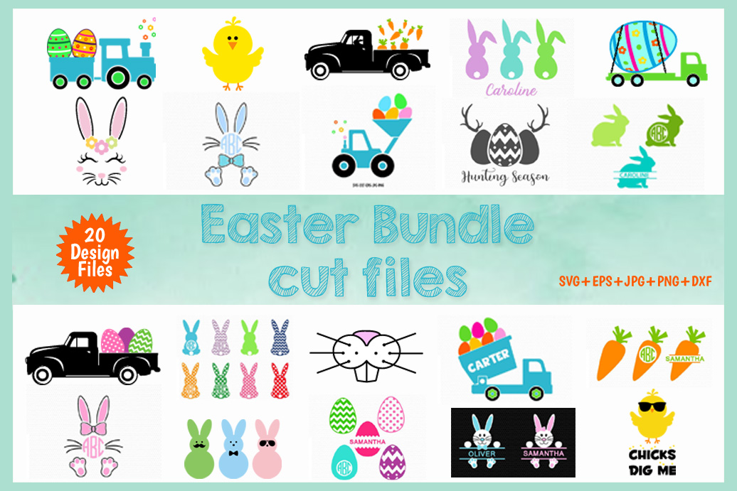 Easter cut files svg bundle example image 1