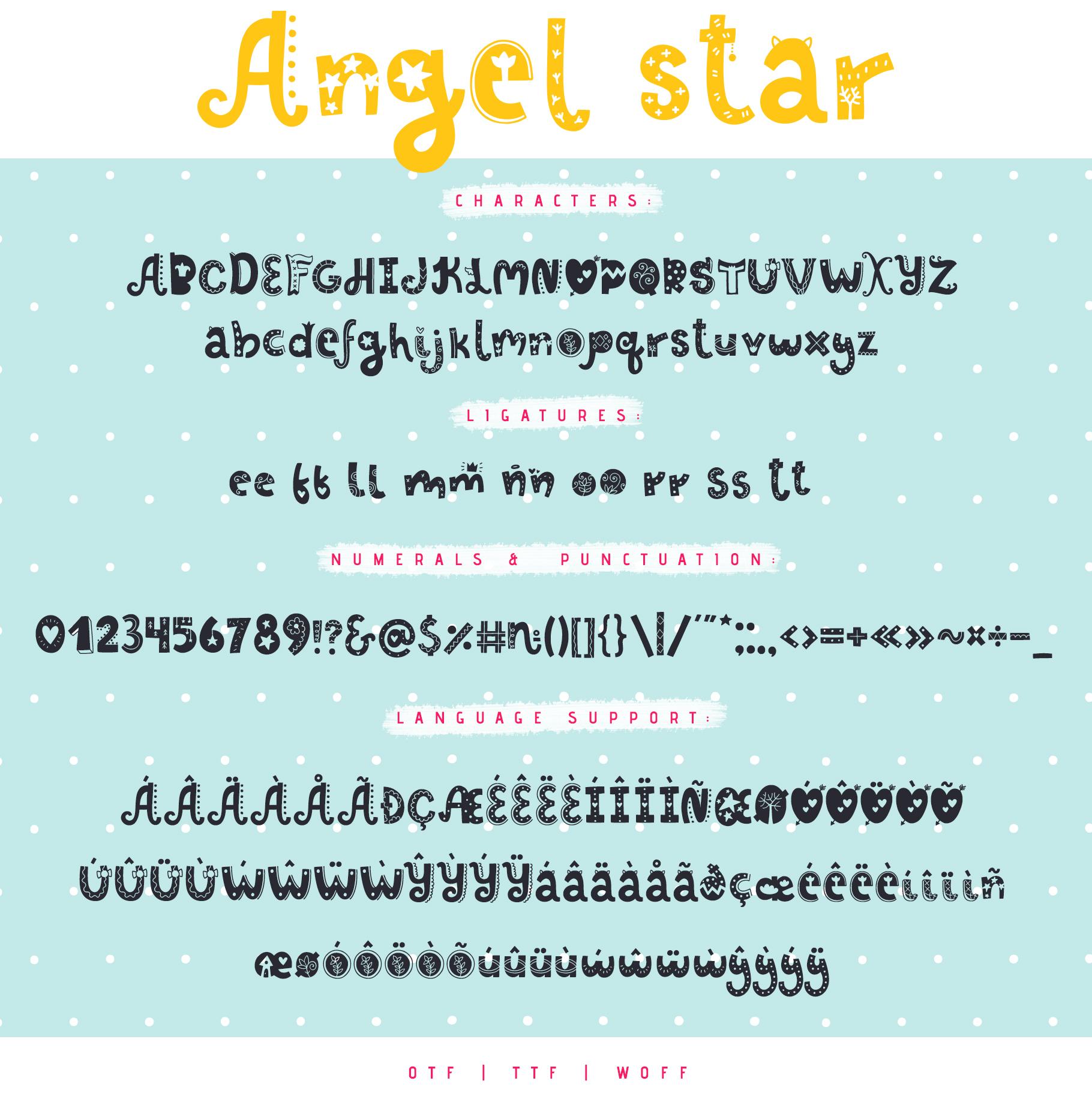 Angel Star - Decorative Typeface example image 4