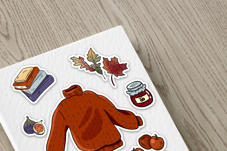 Cozy Sweaters Sticker Set example image 3
