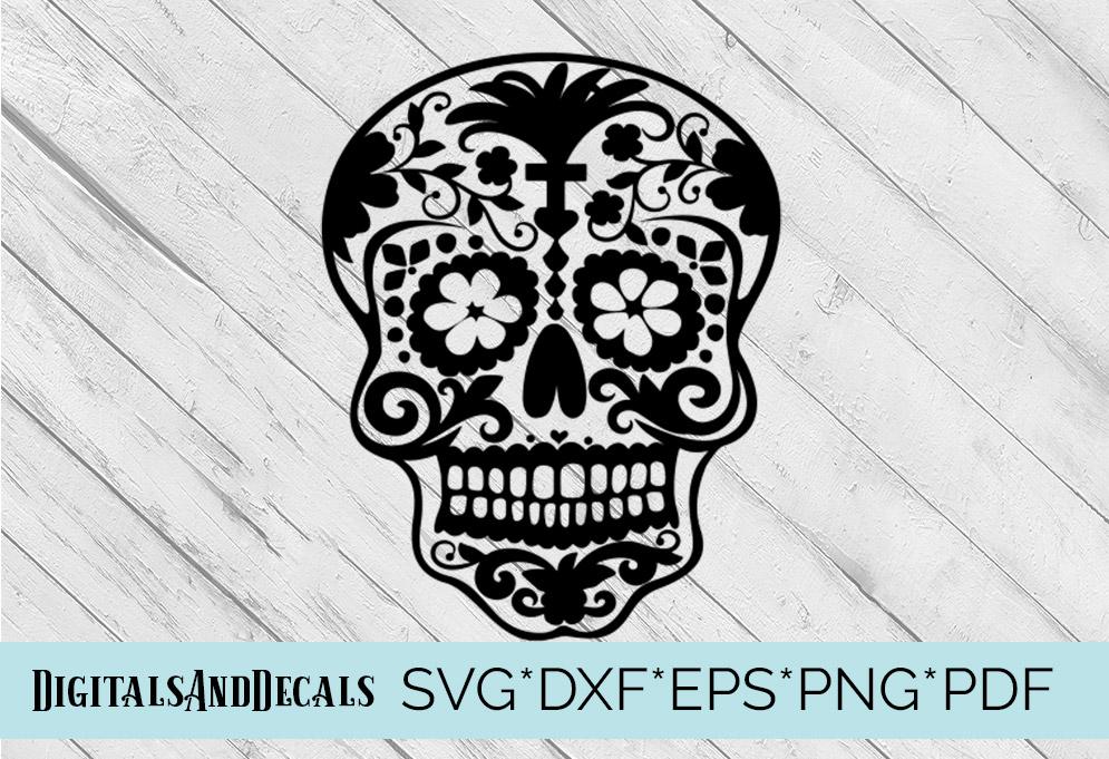 Sugar Skull SVG  Cutting File  example image 1