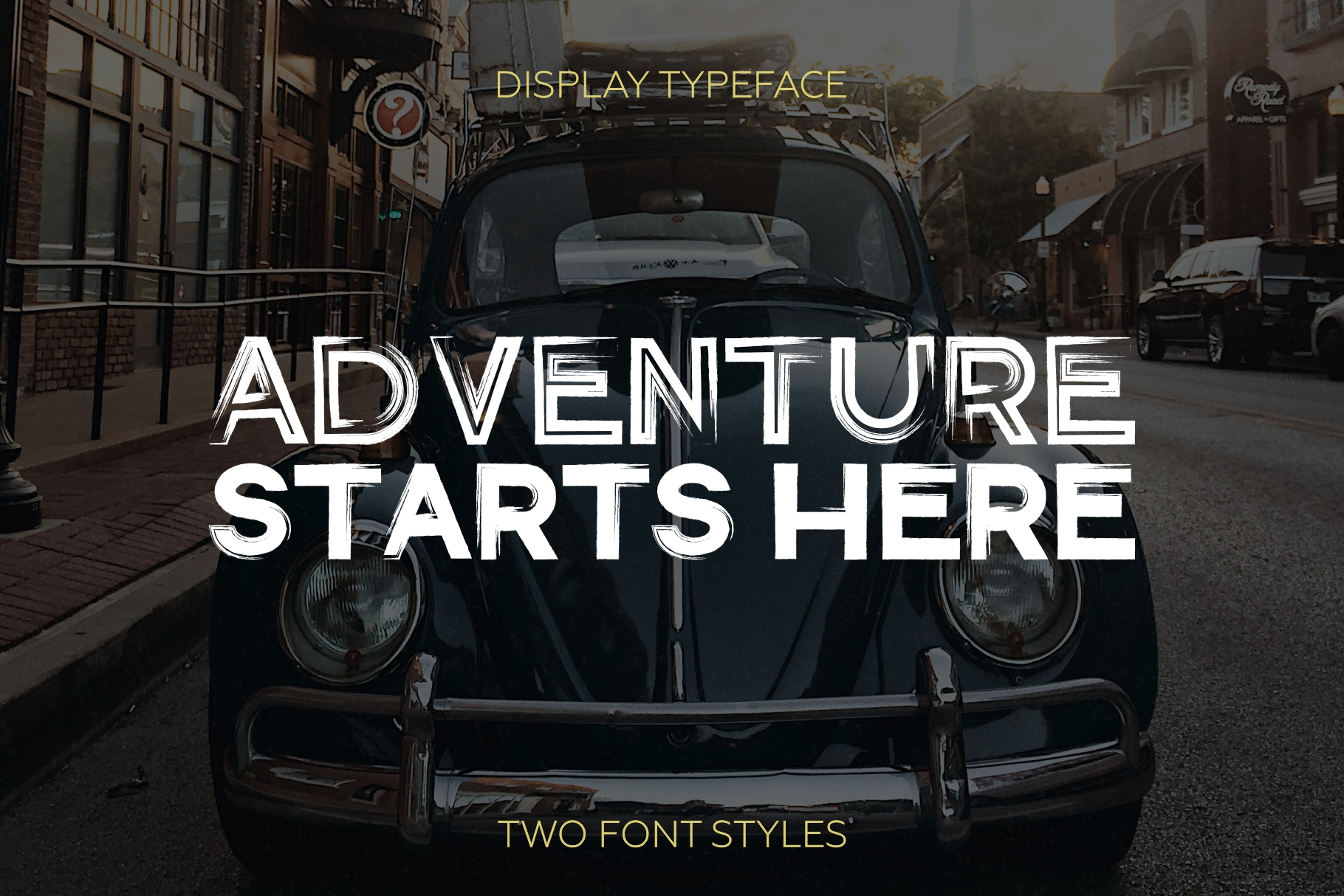 Gent. Display brushed typeface. Striking and modern. example image 2