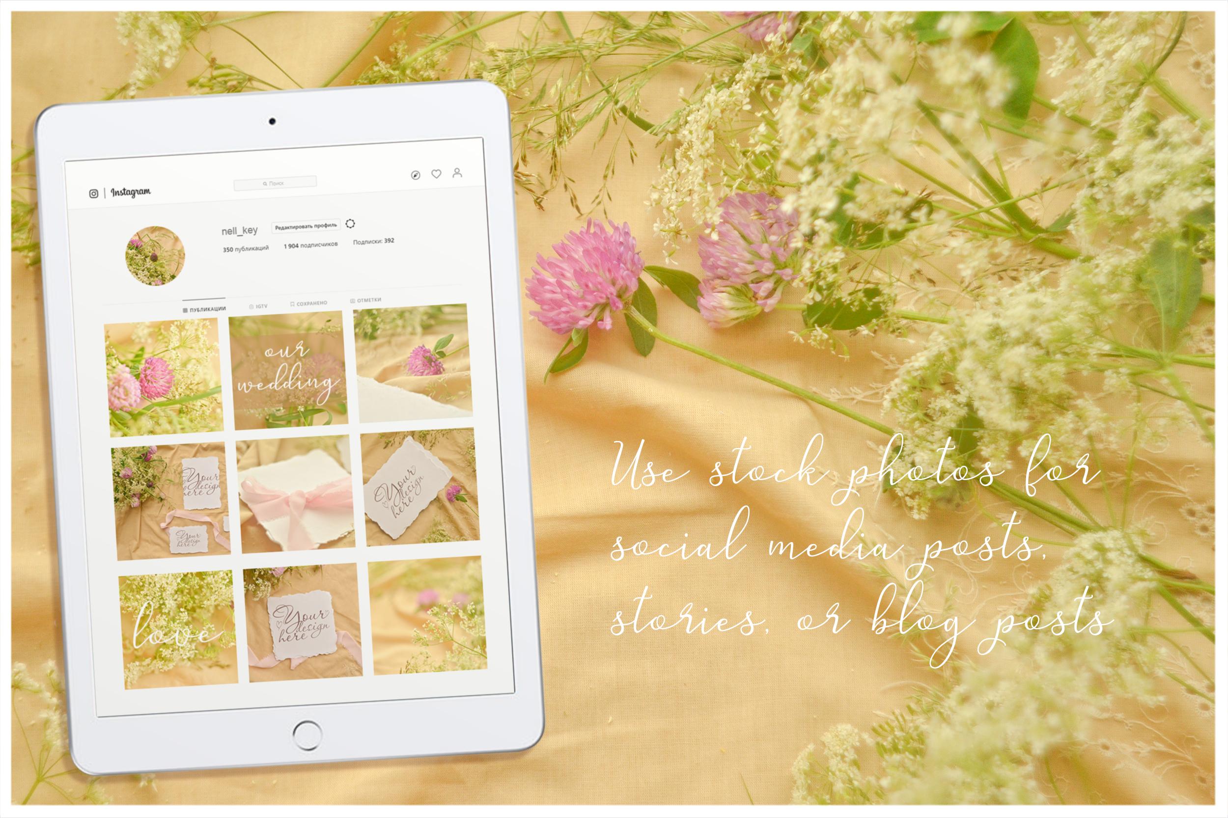 Honey Meadow. Wedding mockups & stock photo bundle example image 5