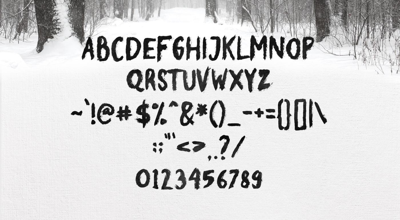 Broke Brush Font example image 8