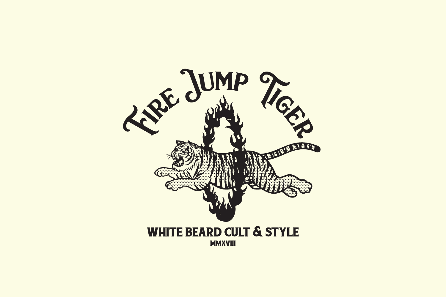 Fire Jump Tiger Logo Template example image 2