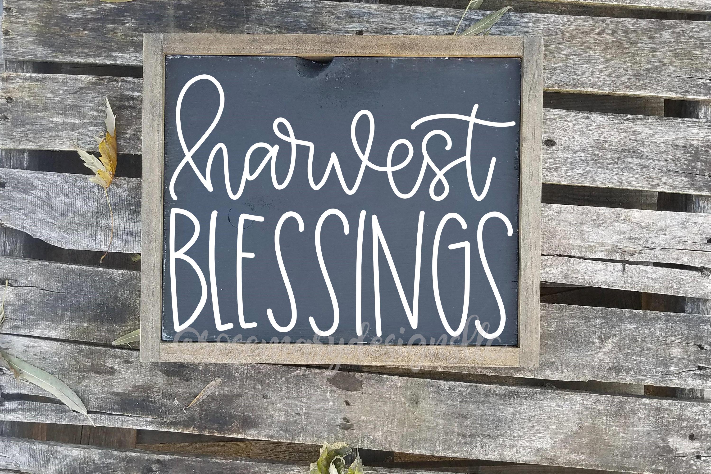 Harvest Blessings - Hand Lettered SVG example image 1