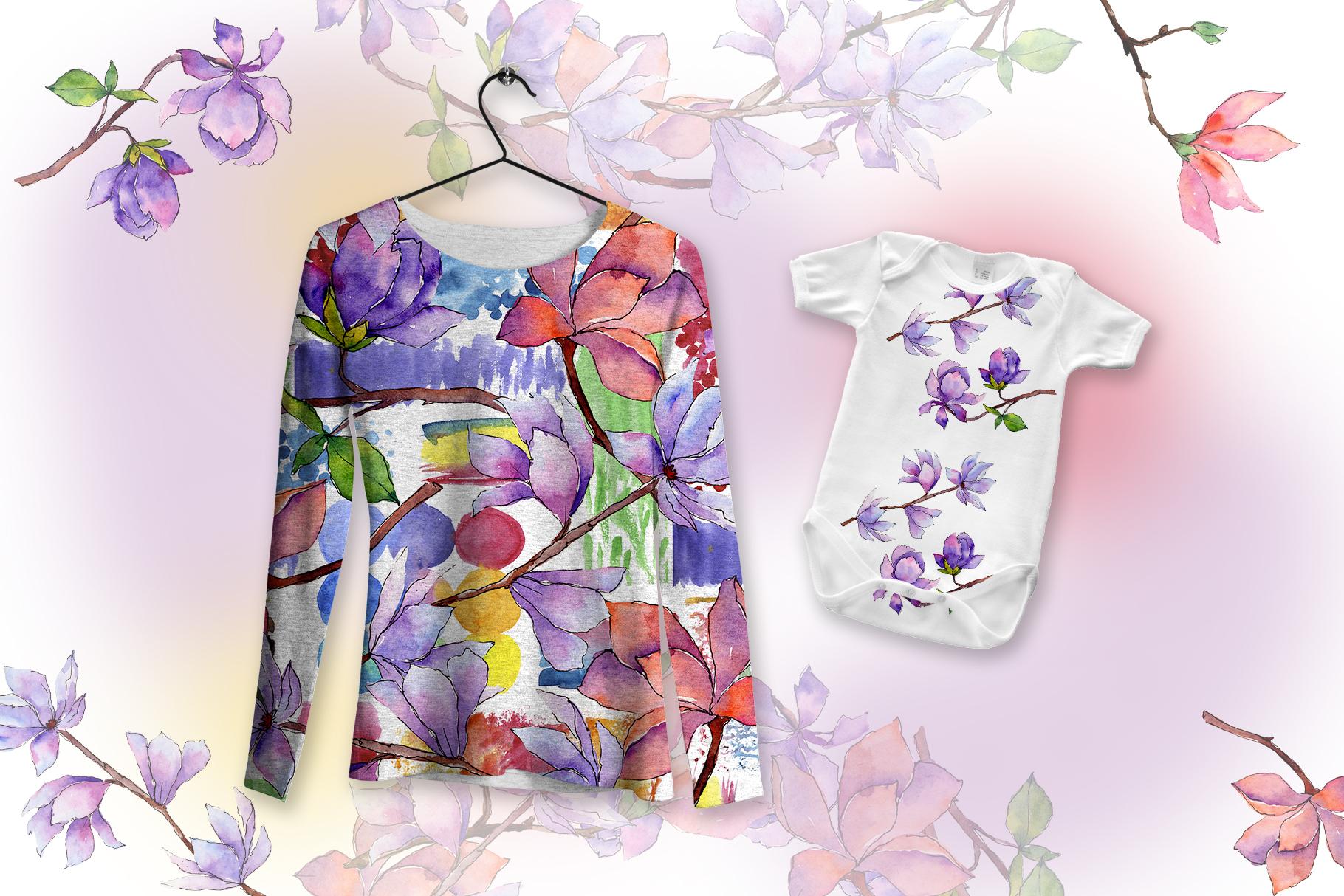 Amazing magnolia JPG watercolor flower set example image 8