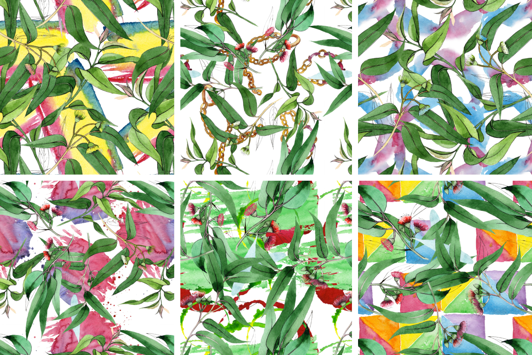 Eucalyptus branch Watercolor png example image 4