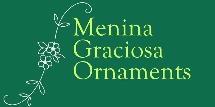 Menina Graciosa Ornaments example image 4