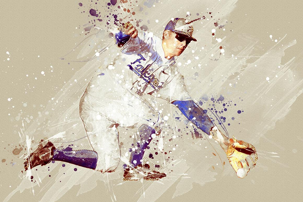 Sports Modern Art Photoshop Action example image 6