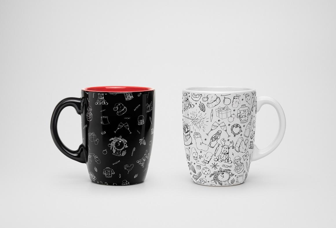 Christmas doodle set + patterns example image 2