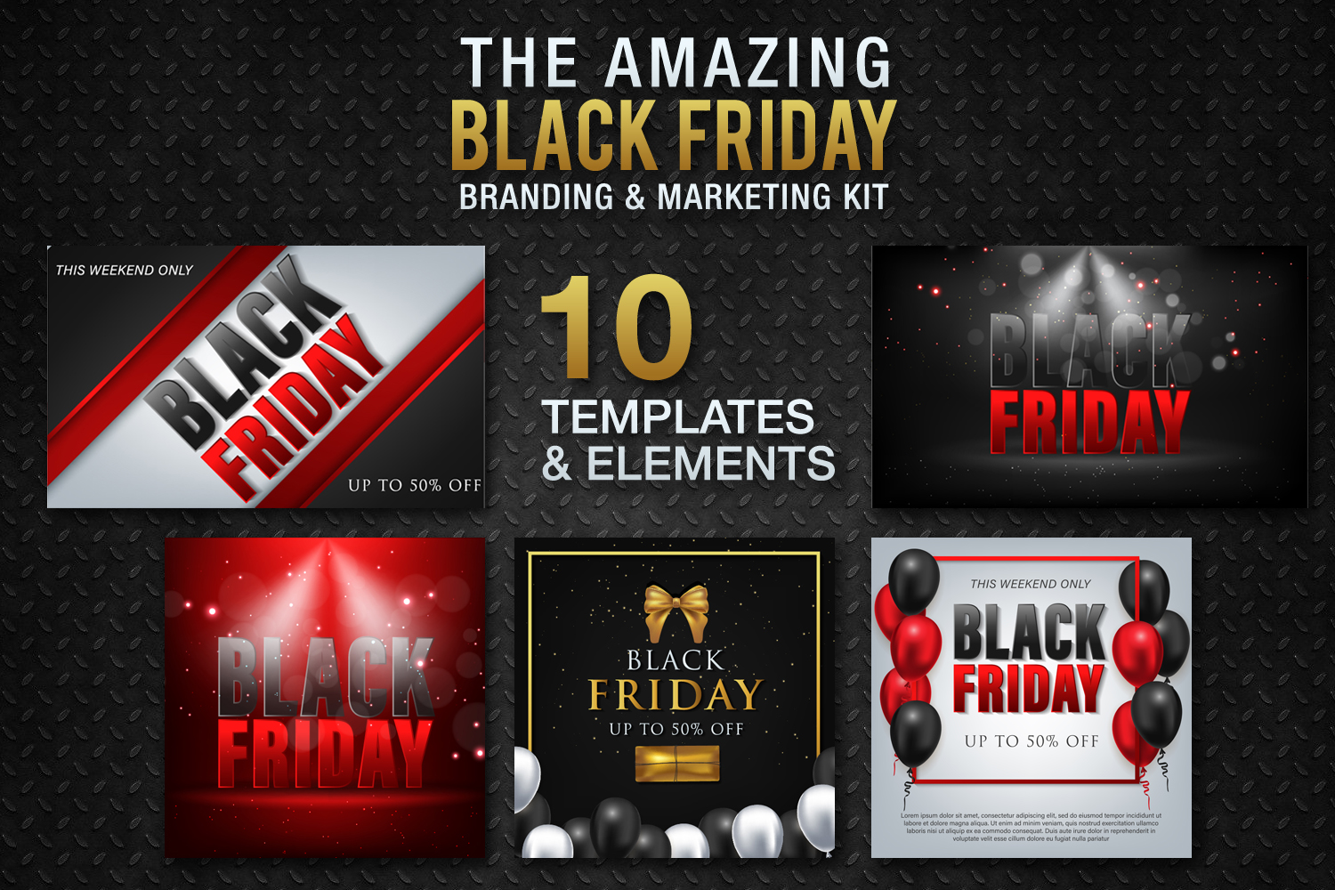 Black Friday Templates Vol 2 example image 2