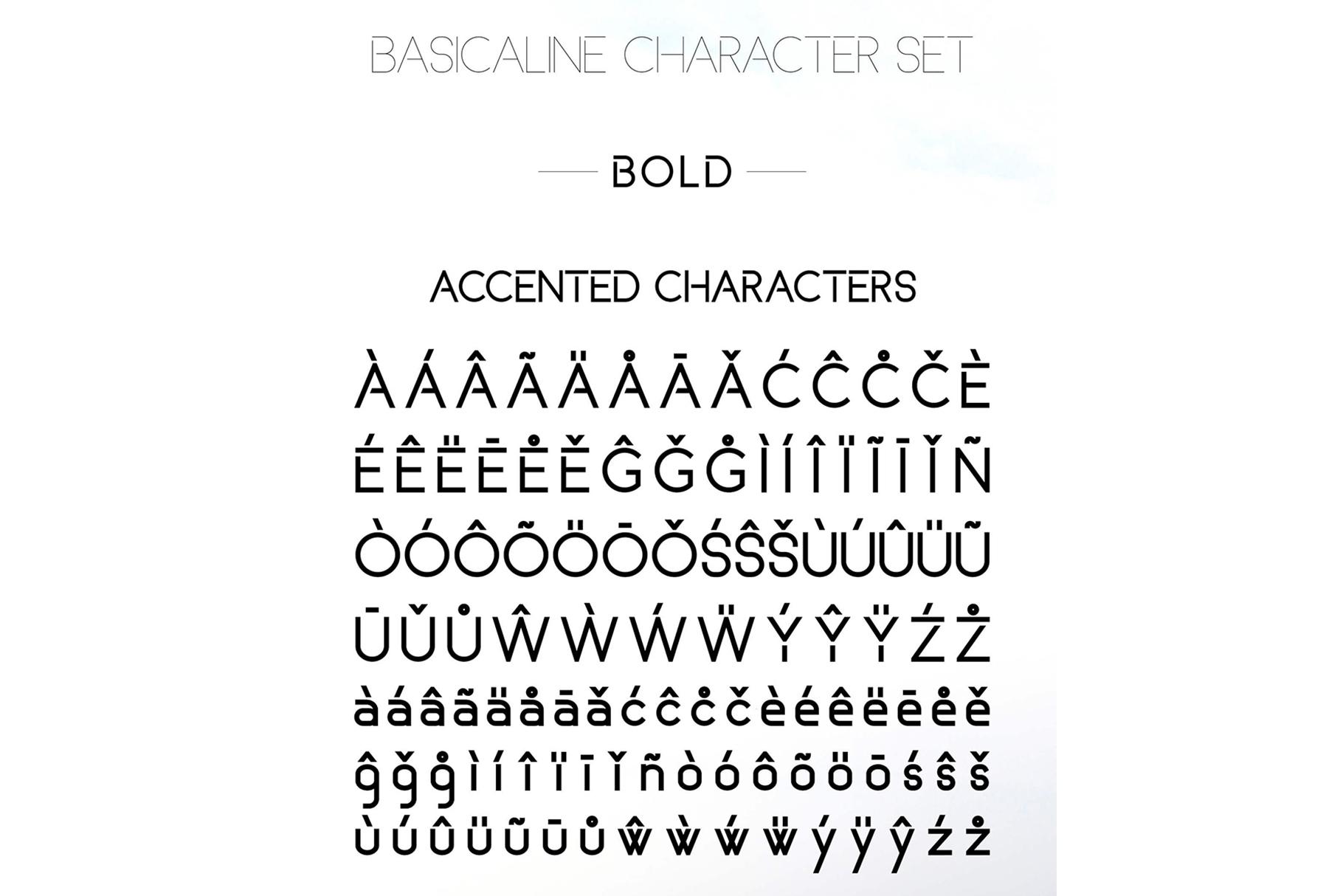 Basicaline Font Family - Sans Serif example image 15
