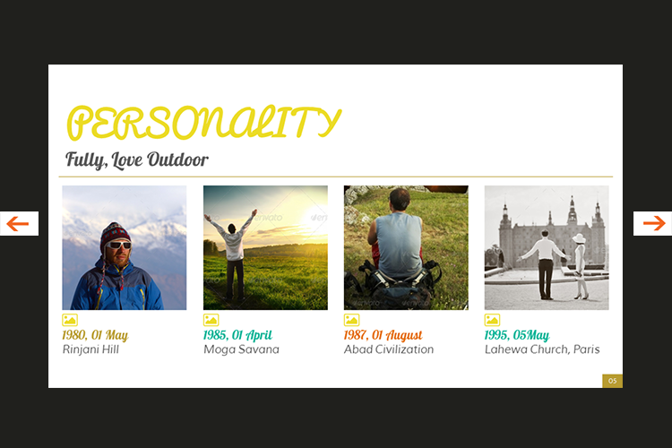 The Biography Presentation Templates example image 6