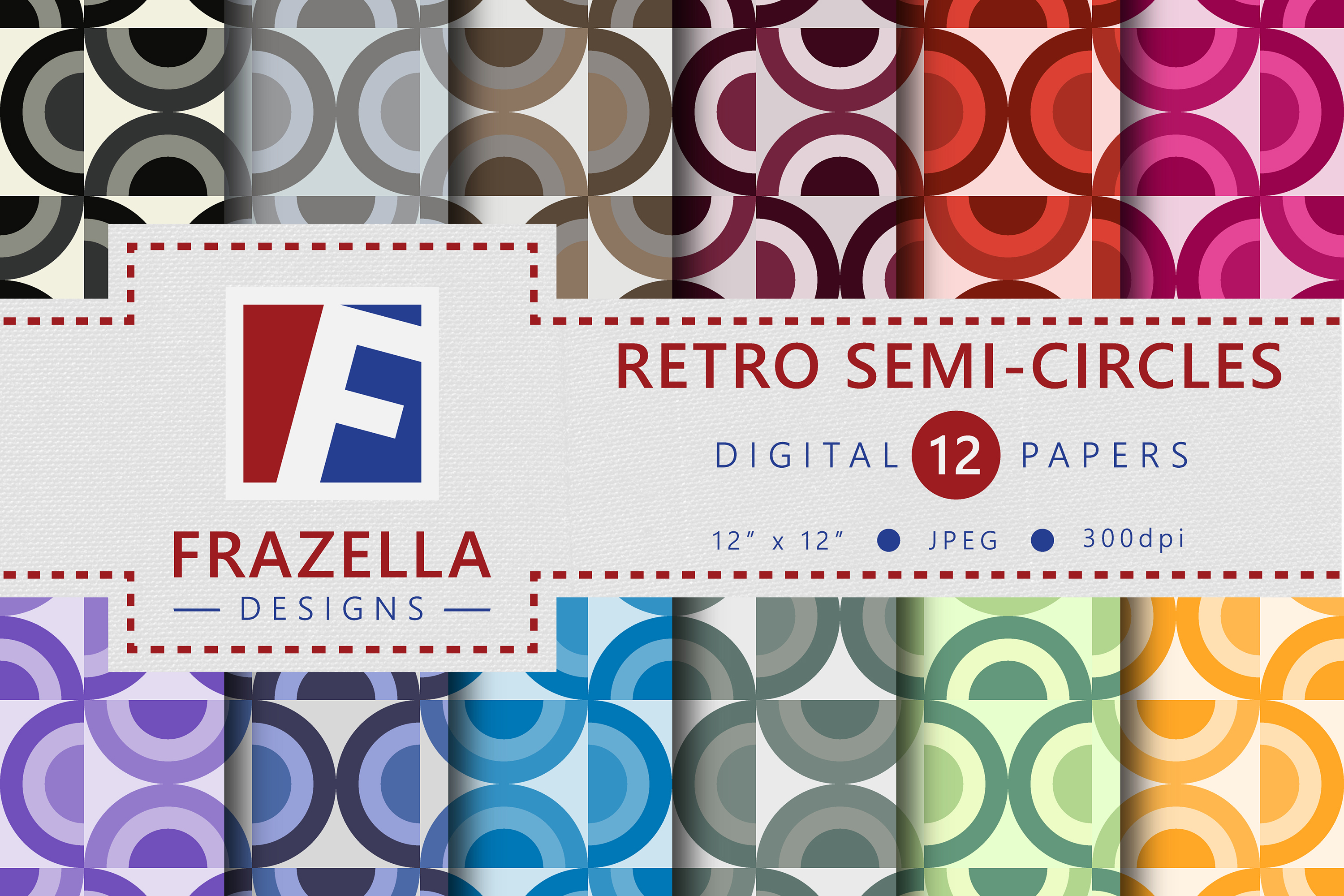 The ULTIMATE Digital Paper Collection Retro Edition Vol. 3. example image 10