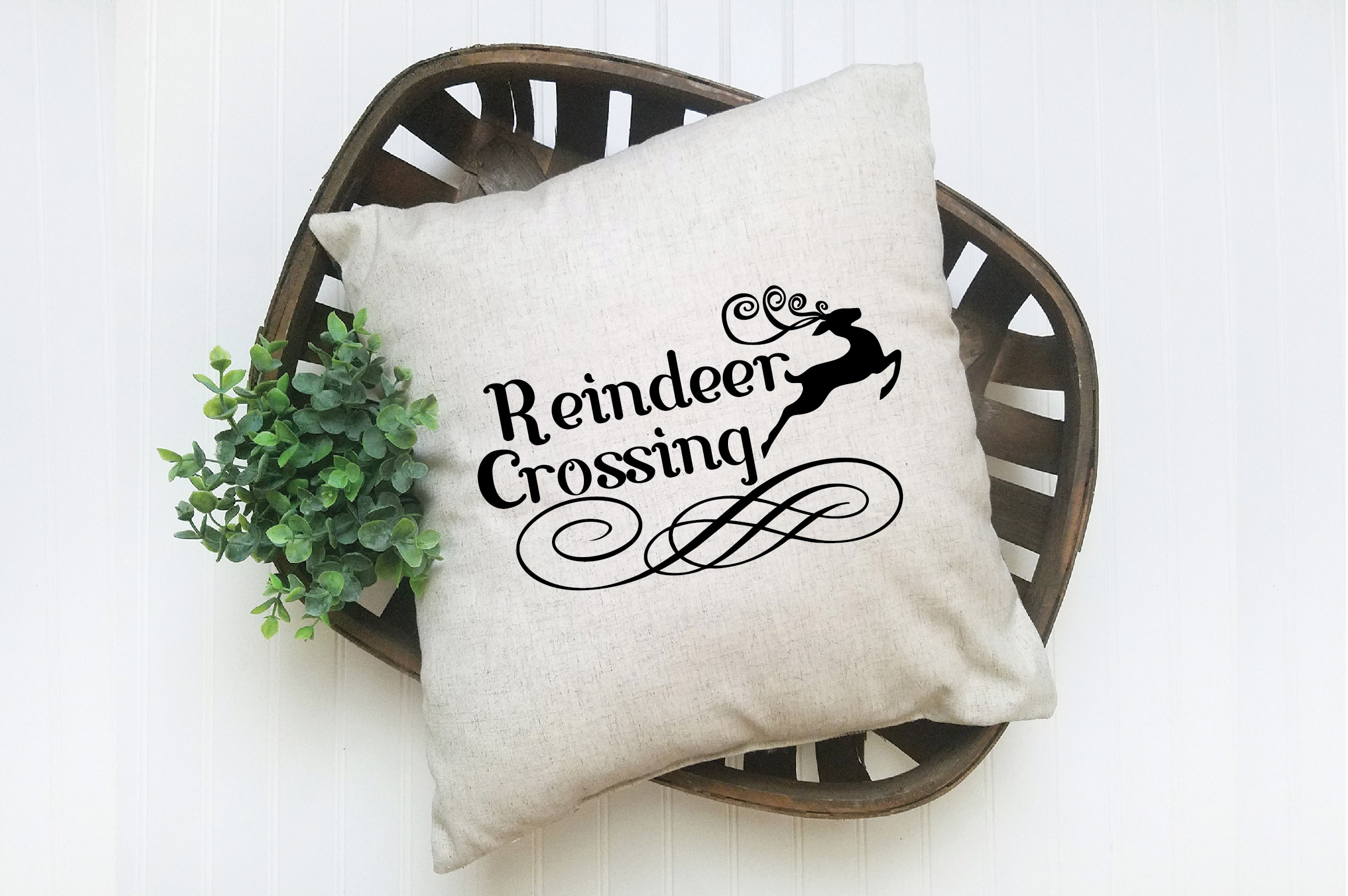 Christmas SVG Cut File - Reindeer Crossing SVG DXF PNG EPS example image 7