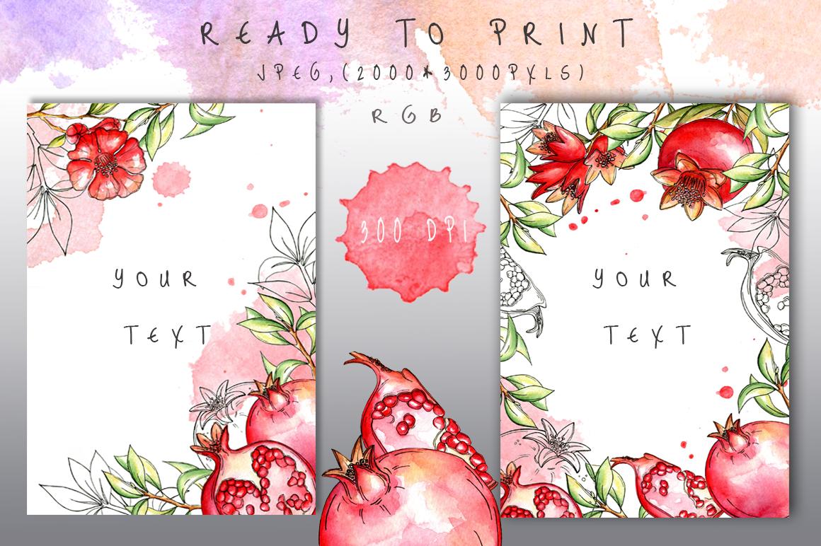 Juicy Pomegranate by ArtDreamer | Design Bundles