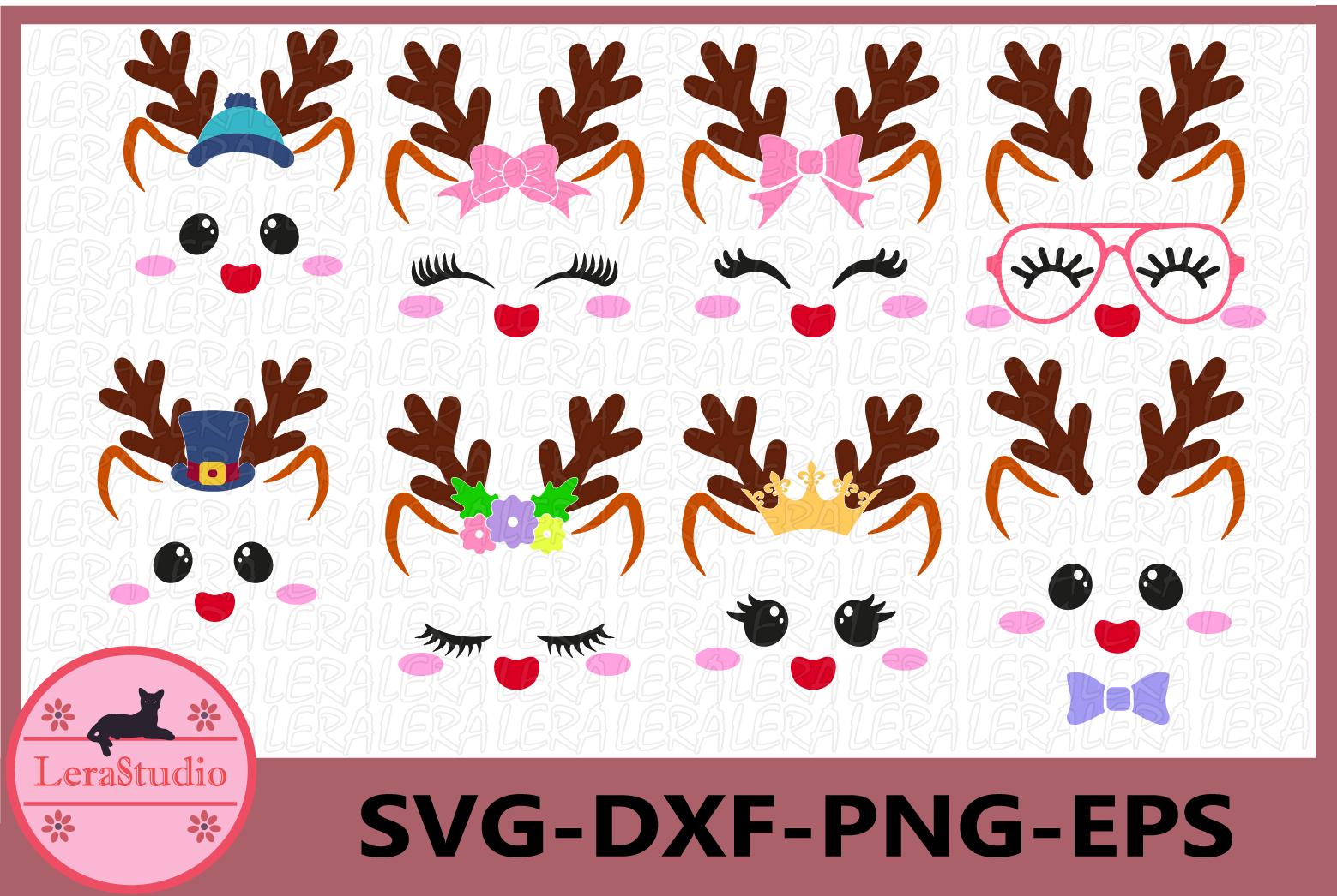 Deer Face svg, Deer Antlers, Little Deer SVG, Deer Vector example image 1