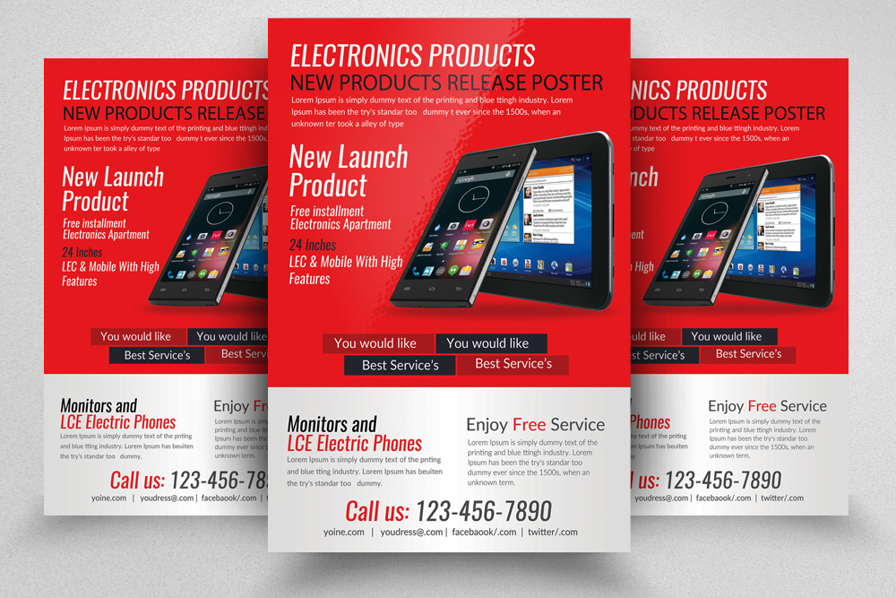 Electronic Product Promotion Flyer Template example image 1