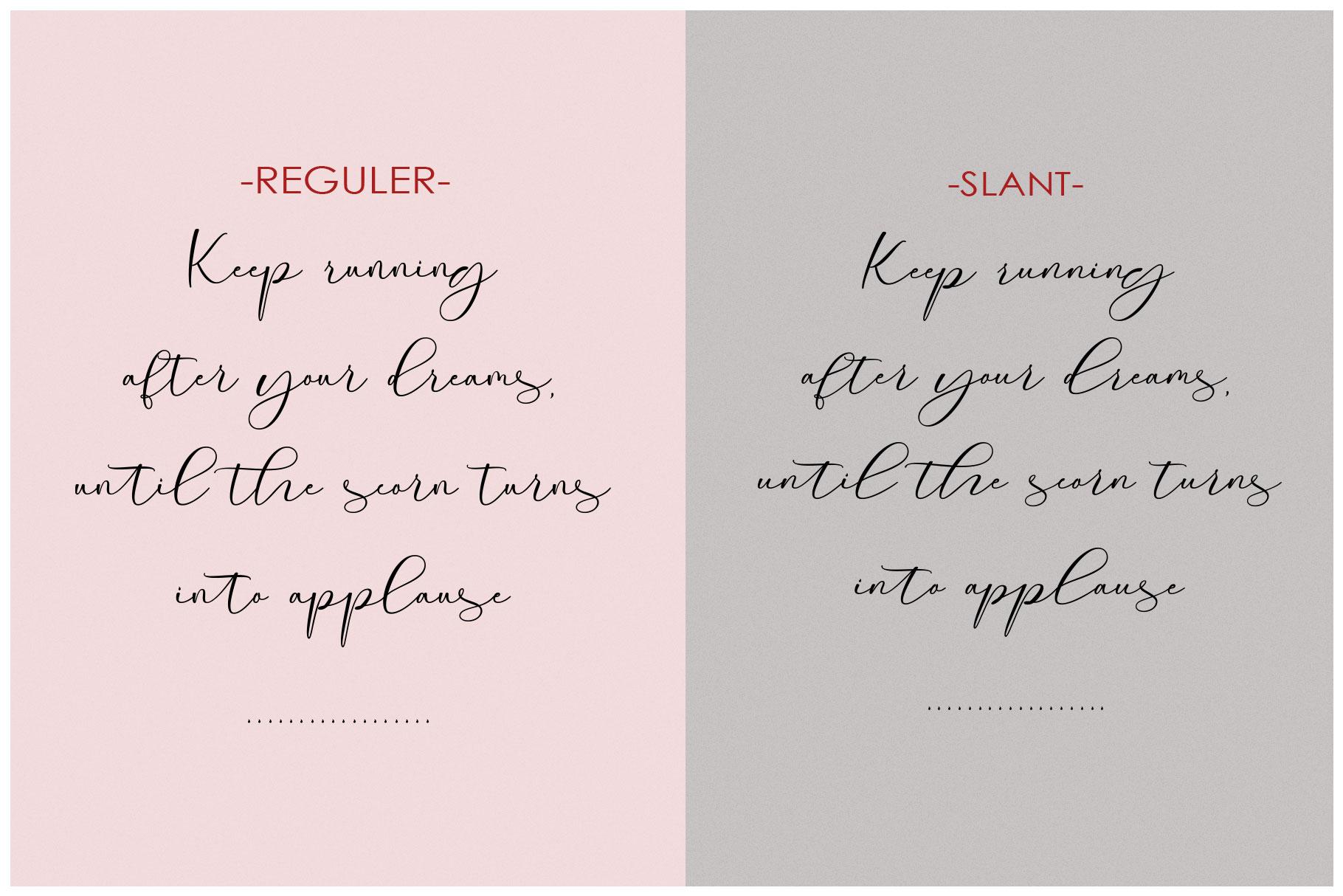Roommates Script | Reguler & Slant example image 6