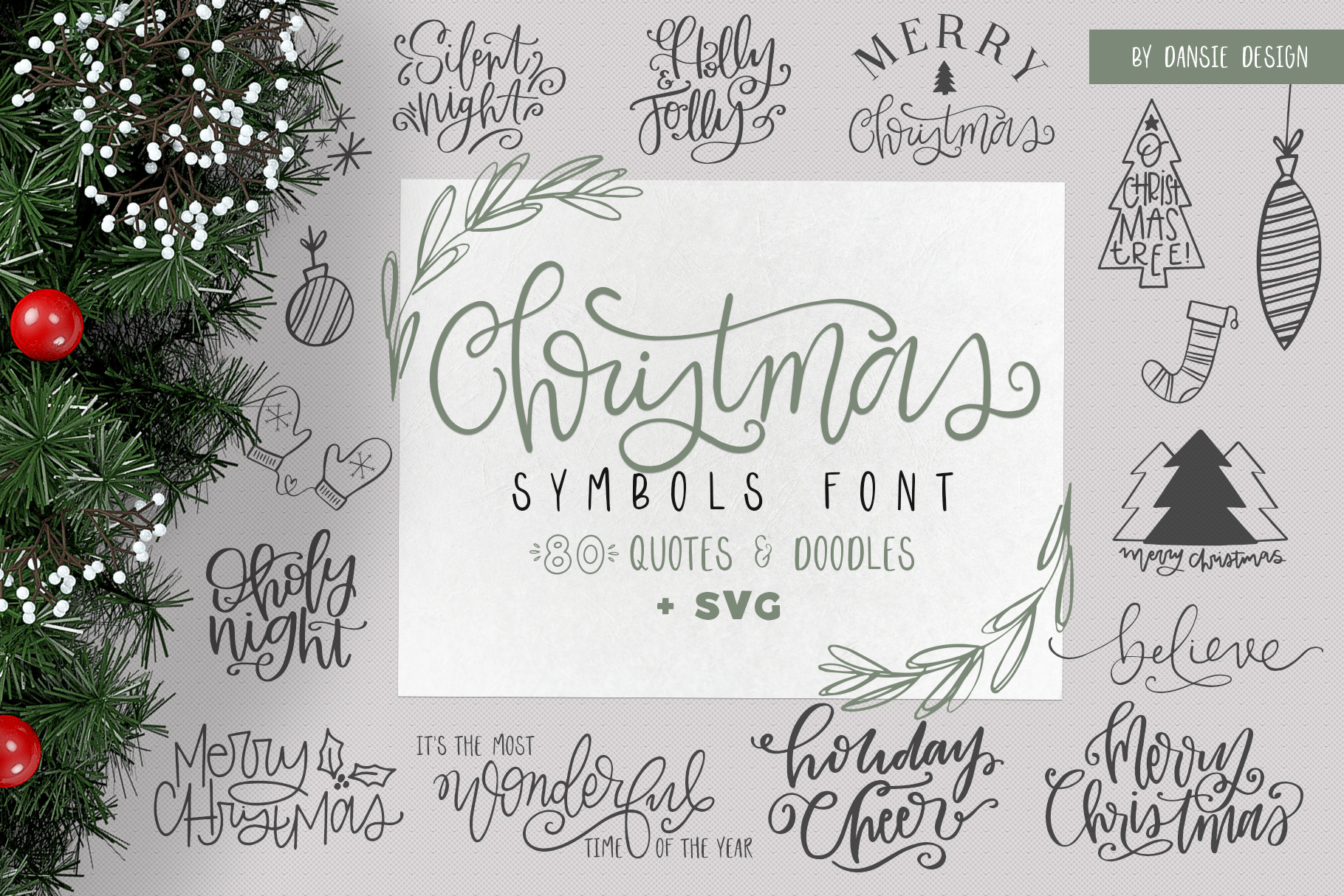 Christmas Symbols Font - Volume 2 example image 1