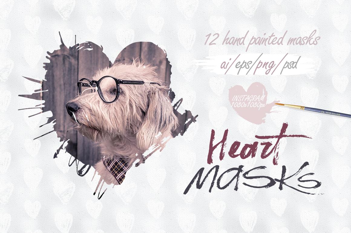 Heart masks. Instagram. example image 1