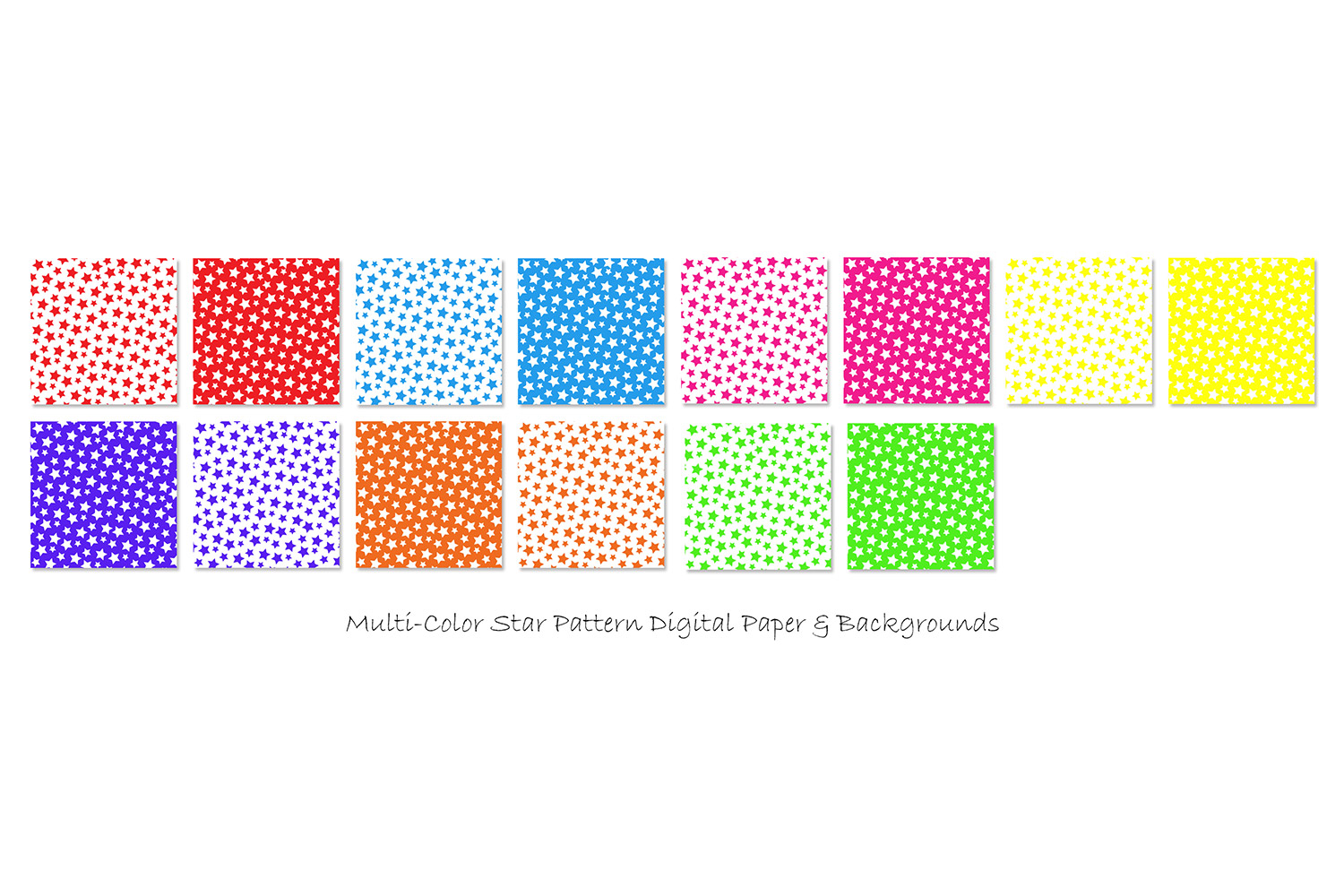 Star Backgrounds in Multi-Color - Star Patterns example image 2
