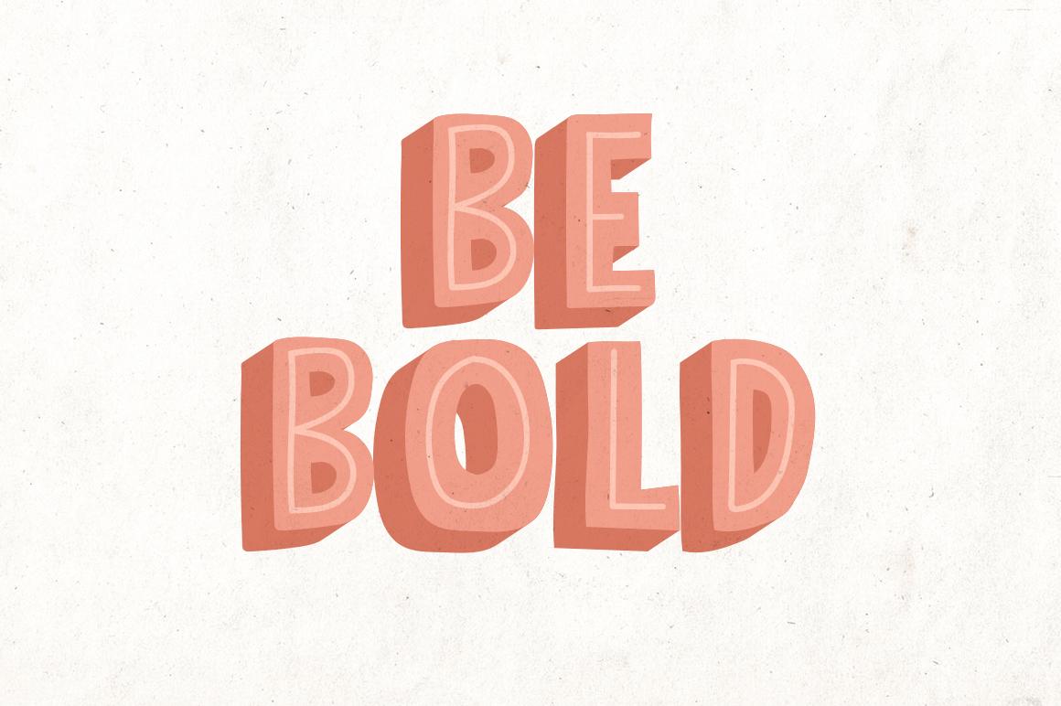 Bolder Typeface example image 2