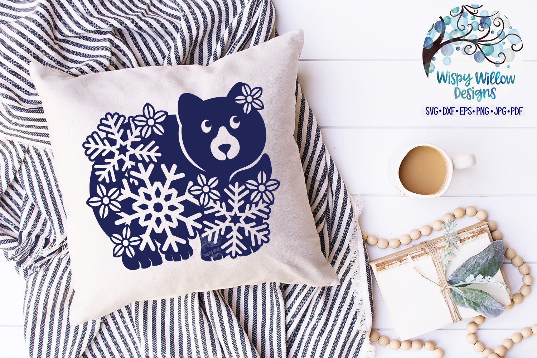 Snowflake Animal SVG Bundle | Winter Animal SVG Cut Files example image 12