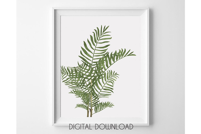 Palm Leaves Print, Tropical Leaves Print, Palm Tree Wall Art example image 1