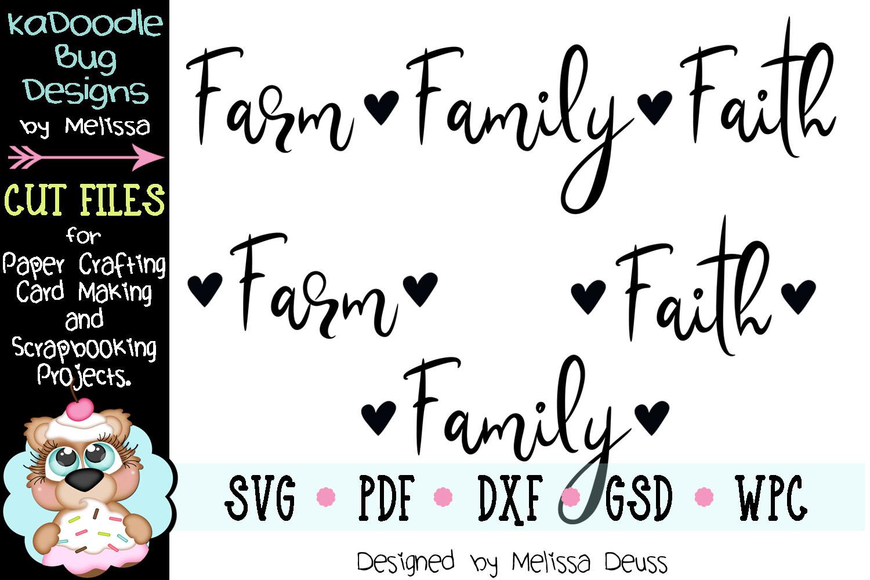 Farm Family Faith Cut File - SVG PDF DXF example image 2