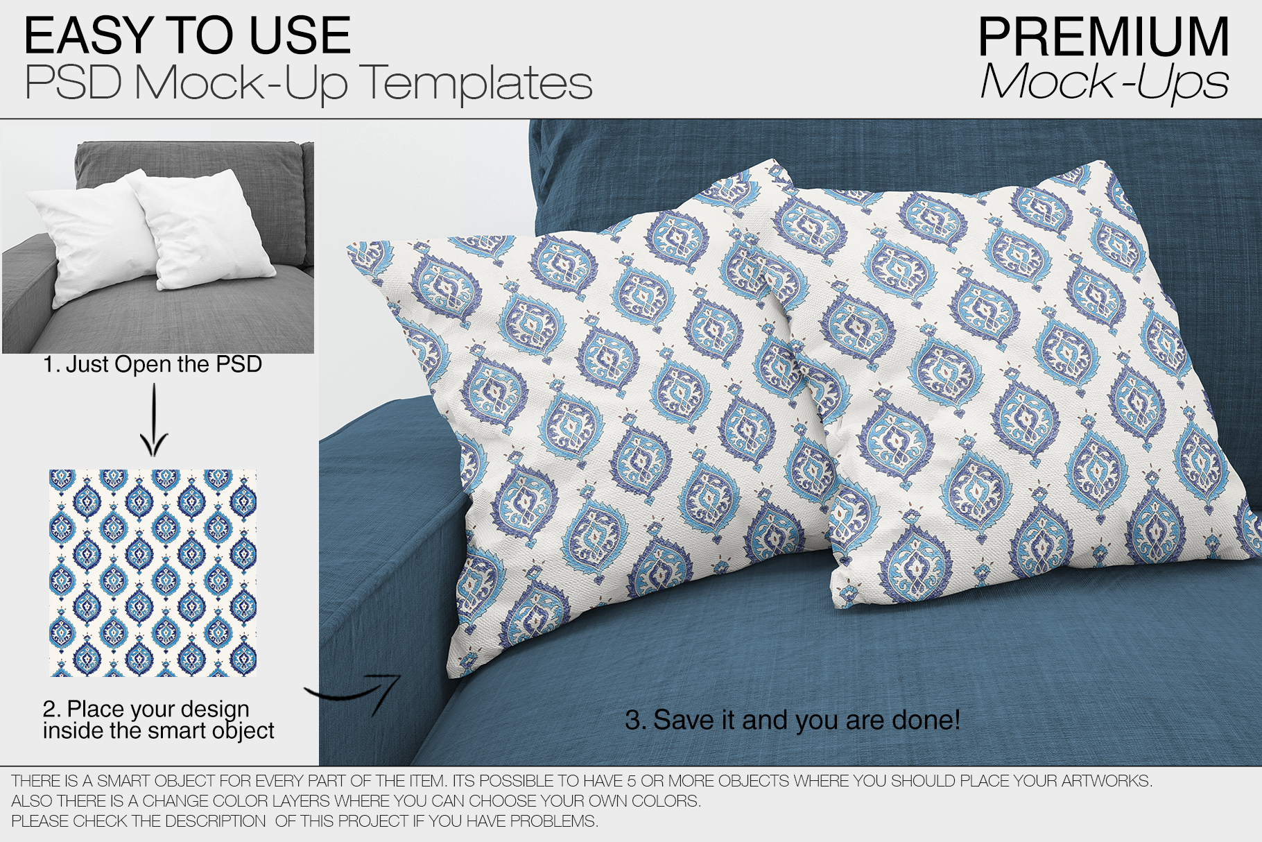 Pillow Mockups example image 10