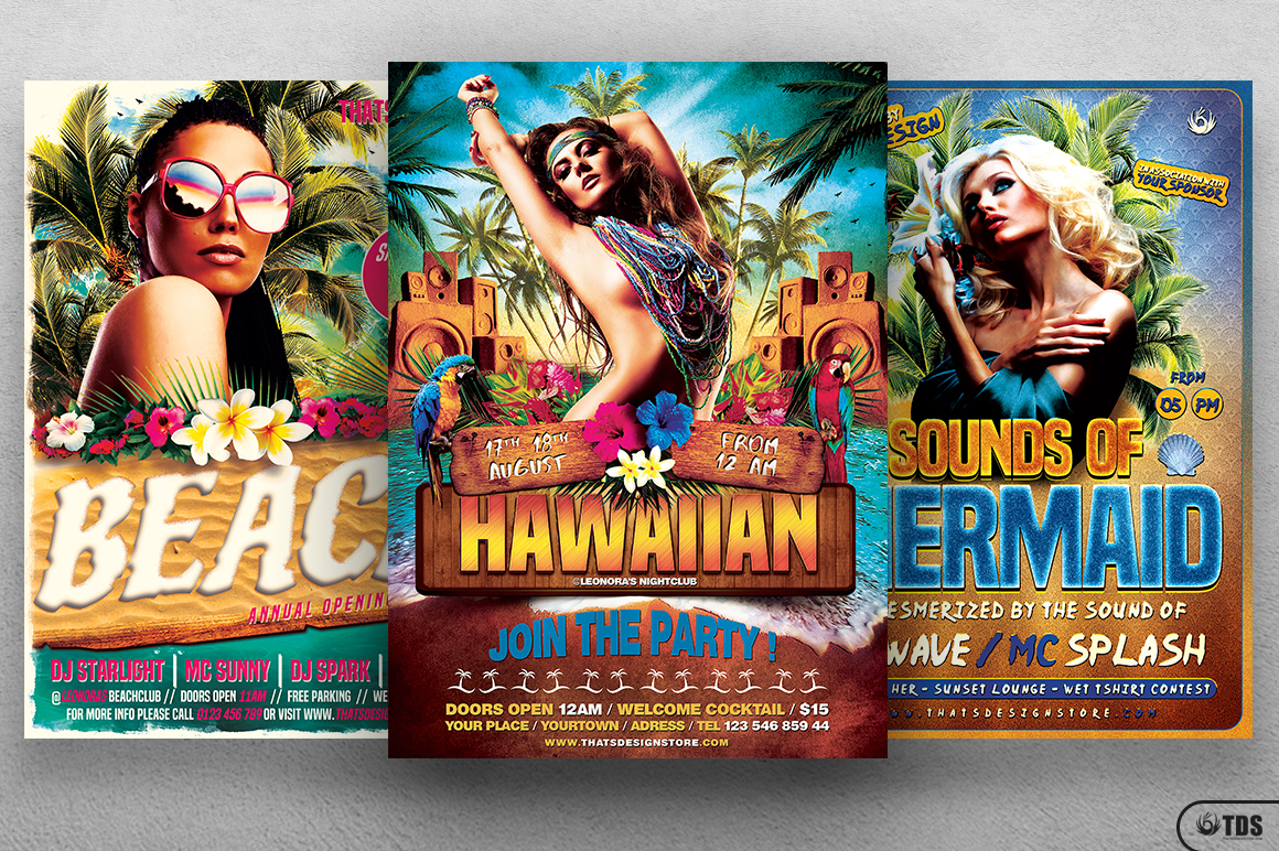 Beach Party Flyer Bundle V2 example image 3
