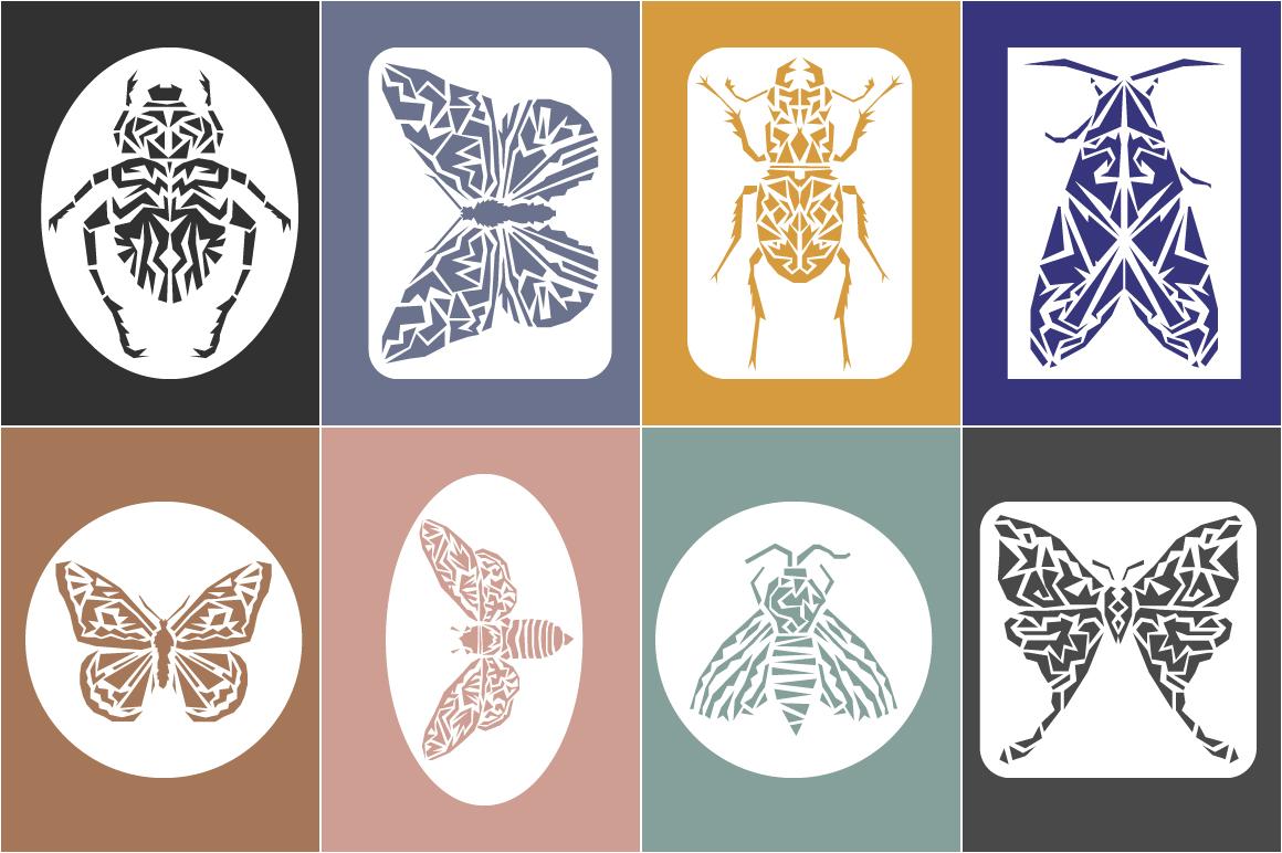 Butterflies and Beetles SVG Bundle example image 8